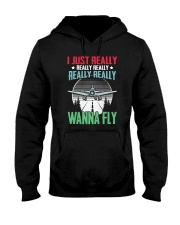 GREAT GIFT FOR PILOT - WANNA FLY Hooded Sweatshirt thumbnail