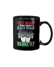 GREAT GIFT FOR PILOT - WANNA FLY Mug thumbnail