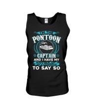 PONTOON BOAT GIFT - WIFE'S PERMISSION Unisex Tank thumbnail