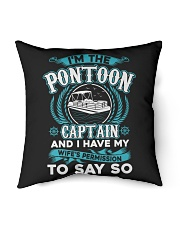 """PONTOON BOAT GIFT - WIFE'S PERMISSION Indoor Pillow - 16"""" x 16"""" thumbnail"""