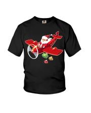 MERRY PILOT CHRISTMAS - SANTA IS COMING Youth T-Shirt thumbnail