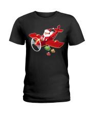 MERRY PILOT CHRISTMAS - SANTA IS COMING Ladies T-Shirt thumbnail