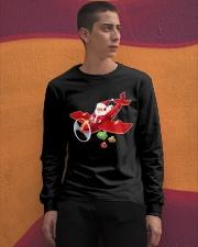 MERRY PILOT CHRISTMAS - SANTA IS COMING Long Sleeve Tee apparel-long-sleeve-tee-lifestyle-04