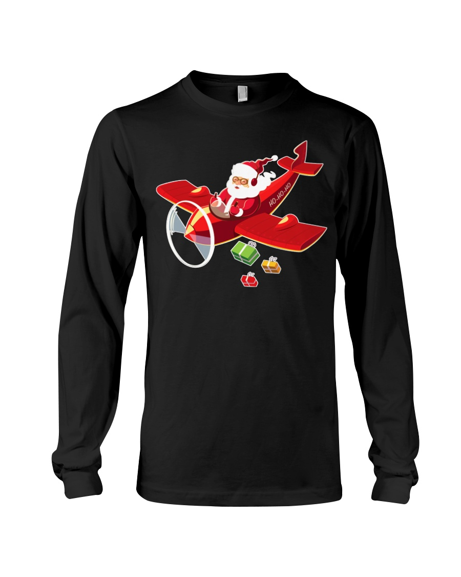 MERRY PILOT CHRISTMAS - SANTA IS COMING Long Sleeve Tee