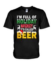 B - HOLIDAY SPIRIT V-Neck T-Shirt thumbnail