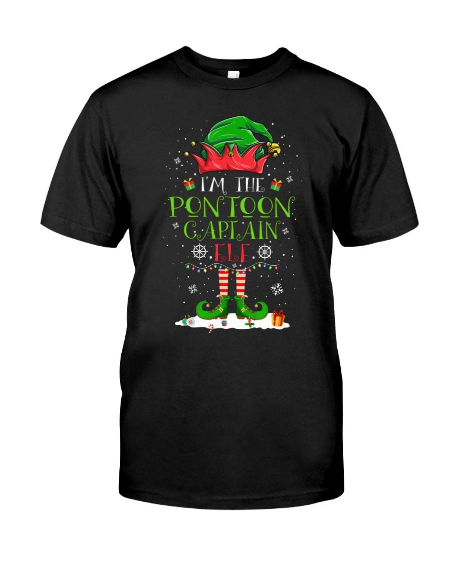 PONTOON BOAT GIFT - PONTOON CAPTAIN ELF Classic T-Shirt