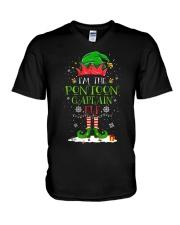 PONTOON BOAT GIFT - PONTOON CAPTAIN ELF V-Neck T-Shirt thumbnail