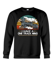 Train Lovers Gifts - I Have One Track Mind Crewneck Sweatshirt thumbnail