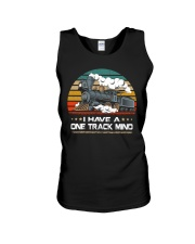 Train Lovers Gifts - I Have One Track Mind Unisex Tank thumbnail