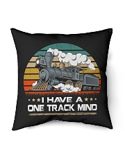 """Train Lovers Gifts - I Have One Track Mind Indoor Pillow - 16"""" x 16"""" thumbnail"""