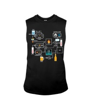 BREWERY CLOTHING - BEER BREWING SCHEMATIC Sleeveless Tee thumbnail