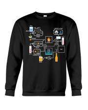 BREWERY CLOTHING - BEER BREWING SCHEMATIC Crewneck Sweatshirt thumbnail
