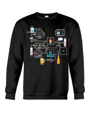 BREWERY CLOTHING - BEER BREWING SCHEMATIC Crewneck Sweatshirt thumbnail