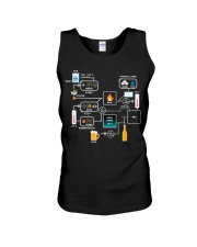BREWERY CLOTHING - BEER BREWING SCHEMATIC Unisex Tank thumbnail