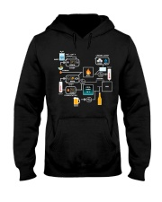 BREWERY CLOTHING - BEER BREWING SCHEMATIC Hooded Sweatshirt thumbnail