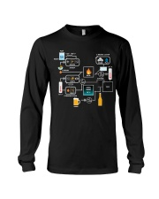 BREWERY CLOTHING - BEER BREWING SCHEMATIC Long Sleeve Tee thumbnail