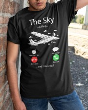 AIRLINE PILOT GIFTS - SKY IS CALLING Classic T-Shirt apparel-classic-tshirt-lifestyle-27