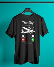 AIRLINE PILOT GIFTS - SKY IS CALLING Classic T-Shirt lifestyle-mens-crewneck-front-3