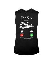 AIRLINE PILOT GIFTS - SKY IS CALLING Sleeveless Tee thumbnail