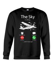 AIRLINE PILOT GIFTS - SKY IS CALLING Crewneck Sweatshirt thumbnail