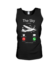 AIRLINE PILOT GIFTS - SKY IS CALLING Unisex Tank thumbnail