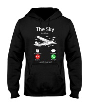 AIRLINE PILOT GIFTS - SKY IS CALLING Hooded Sweatshirt thumbnail
