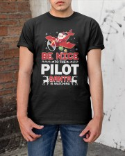 PILOT GIFT - SANTA IS WATCHING Classic T-Shirt apparel-classic-tshirt-lifestyle-31