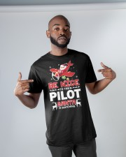 PILOT GIFT - SANTA IS WATCHING Classic T-Shirt apparel-classic-tshirt-lifestyle-front-32