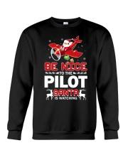 PILOT GIFT - SANTA IS WATCHING Crewneck Sweatshirt thumbnail