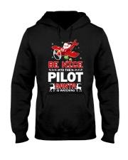 PILOT GIFT - SANTA IS WATCHING Hooded Sweatshirt thumbnail