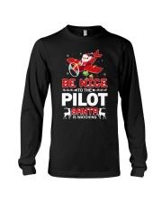 PILOT GIFT - SANTA IS WATCHING Long Sleeve Tee thumbnail