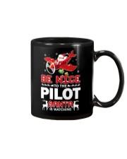 PILOT GIFT - SANTA IS WATCHING Mug thumbnail