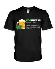 CRAFT BEER BREWERY HOPPINESS V-Neck T-Shirt thumbnail