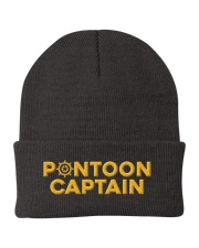 PONTOON BOAT GIFT - PONTOON CAPTAIN DEFINITION Knit Beanie thumbnail
