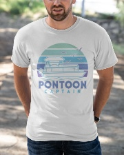 PONTOON BOAT GIFT - PONTOON CAPTAIN 4 Classic T-Shirt apparel-classic-tshirt-lifestyle-front-50