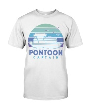 PONTOON BOAT GIFT - PONTOON CAPTAIN 4 Classic T-Shirt front