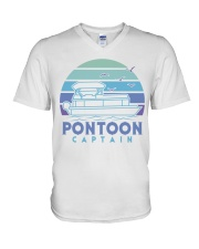 PONTOON BOAT GIFT - PONTOON CAPTAIN 4 V-Neck T-Shirt thumbnail