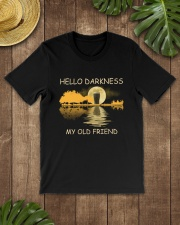 RETRO BEER - HELLO DARKNESS MY OLD FRIEND Classic T-Shirt lifestyle-mens-crewneck-front-18