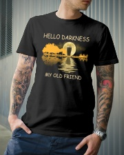RETRO BEER - HELLO DARKNESS MY OLD FRIEND Classic T-Shirt lifestyle-mens-crewneck-front-6