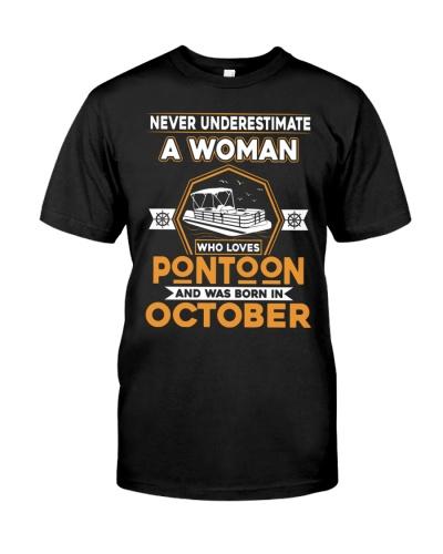 PONTOON BOAT GIFT - OCTOBER PONTOON WOMAN