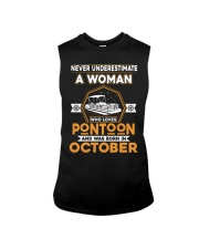 PONTOON BOAT GIFT - OCTOBER PONTOON WOMAN Sleeveless Tee thumbnail