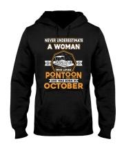 PONTOON BOAT GIFT - OCTOBER PONTOON WOMAN Hooded Sweatshirt thumbnail