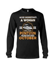 PONTOON BOAT GIFT - OCTOBER PONTOON WOMAN Long Sleeve Tee thumbnail