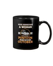 PONTOON BOAT GIFT - OCTOBER PONTOON WOMAN Mug thumbnail