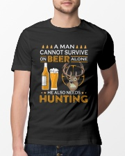 RETRO BEER - BEER AND HUNTING Classic T-Shirt lifestyle-mens-crewneck-front-13