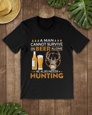 RETRO BEER - BEER AND HUNTING Classic T-Shirt lifestyle-mens-crewneck-front-18