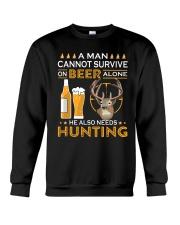 RETRO BEER - BEER AND HUNTING Crewneck Sweatshirt thumbnail