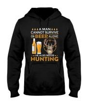 RETRO BEER - BEER AND HUNTING Hooded Sweatshirt thumbnail