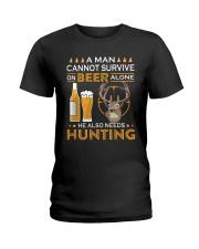 RETRO BEER - BEER AND HUNTING Ladies T-Shirt thumbnail