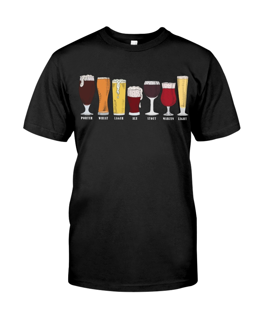 BEER BREWERY TYPES BEER SHOP Classic T-Shirt